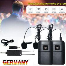 Ansteckmikrofon Lavalier Mikrofon Clip-On Microphone Wireless Mikrofonsystem DHL