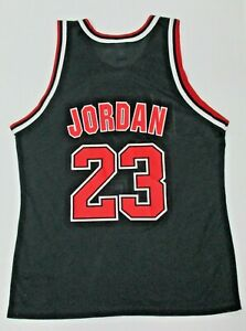 Vintage Michael Jordan BLACK Chicago Bulls NBA Champion Jersey Mens Size 48 XL
