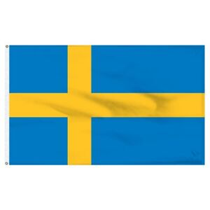 5x8 ft Flag of Sweden Swedish Flag Rough Tex Knitted 5'x8' banner