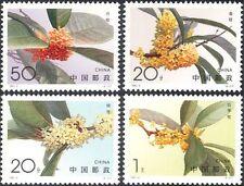 China 1995 Sweet Osmanthus/Flowers/Plants/Nature/Horticulture 4v set (n25479)