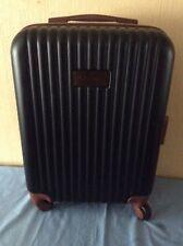 NEW(other) Designer AZZARO Black/Tan Ribbed Hard/lightweight  Hand-Luggage Case