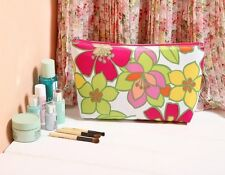 1x CLINIQUE Multi-Coloured Makeup Cosmetics Bag with flower pattern, Brand NEW!!