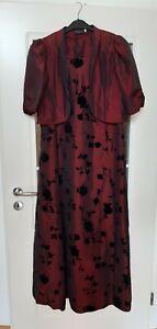 Abendkleid Brautkleid Hochzeitskleid Barisal Rosen weinrot rot Größe 46 Bolero
