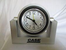 """New Rare CASE Equipment Swivel Quartz Alarm Clock 5 1/4"""" Base"""