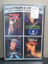 Hard Target-Timecop-Street Fighter-The Quest (DVD) 4 Films Van Damme  BRAND NEW