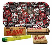 RAW King Size Supreme with Roller, Tips, Rolling Paper Depot Tray and Kewltube