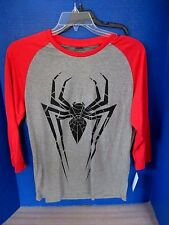 Gray w/ Red ULTIMATE SPIDERMAN SHIRT~3/4 Sleeves~Boy Large~NWT