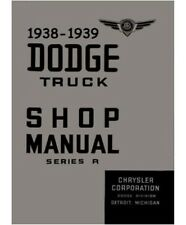 Factory Shop - Service Manual for 1938-1939 Dodge & Plymouth Trucks