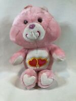 """Vintage Original 80's Kenner Care Bears 13"""" Love-A-Lot Bear Plush Pink Heart Toy"""