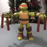 🌟RARE TMNT Teenage Mutant Ninja Turtles Michaelangelo Battle Shell Figure 11in