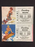 Vintage Pinup Advertisements West Broadway Vancouver BC  promo card