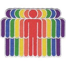 More details for zum aufbügeln / aufnäher - lgbtq - stamm gewebter aufnäher gay pride regenbogen