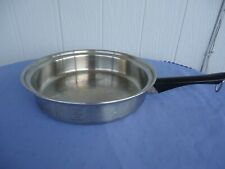 amway queen ware stainless steel saucepan frypan frying pan 18/8 multiply usa