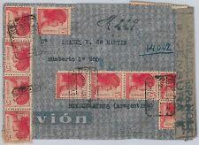 España - HISTORIA POSTAL Guerra Civil: CORREO AEREO -  CARTA a ARGENTINA 1938