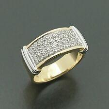 Brand New 18ct yellow & white gold pave set diamond ring