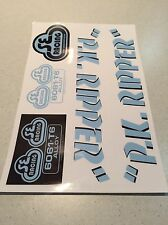 PK Ripper Olympic Blue /black Decal Sticker  Repop Old School Bmx Landing Gear
