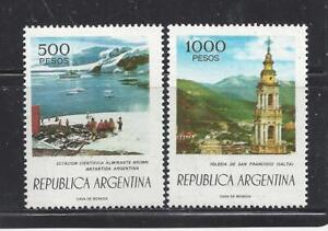 ARGENTINA - 1109-1110 - MH - 1977 - ADM BROWN STATION, ANT & ST FRANCIS CHURCH