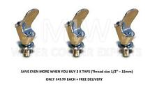 """Chrome 1/2"""" / 15mm Bubbler Tap for use with Drinking Fountain Pack x 3"""