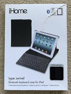 IHOME Type Swivel Bluetooth Keyboard Case WorKs With IPAD 2, 3 & 4