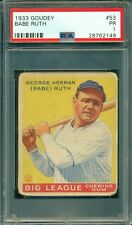 Babe Ruth 1933 Goudey #53 ** PSA 1 ** Fantastic Eye Appeal - Just Graded by PSA