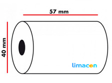200 57mm x 51mm 57x51mm di carta termica carta di credito PDQ Streamline MACCHINA ROLLS