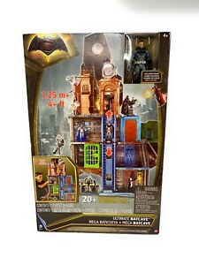 "Batman vs Superman Ultimate Batcave Playset 4' Tall w/ Exclusive 6"" Figure NEW!"