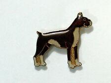 Boxer dog Pin Badge Vintage  PIN Lrg Enamel
