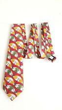 Vintage Silk Ties 4 u Umbrella Red Tie 10cm