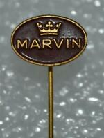 MARVIN Swiss wrist watch logo brand vintage pin badge anstecknadel Rare