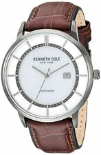 Kenneth Cole New York Men's Stainless Steel & Leather Quartz Watch KC50784001