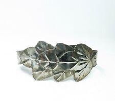 Vintage 70s 80s Modernist Metal Leaf Shaped Corset Waist Cincher Wide Belt