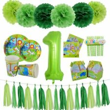 Party Supplies Balloons Tableware Theme Jungle Safari Party Decorations