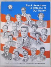 1991 U.S. Military History Book Black Americans in Defense of Our Nation