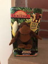 Disney The Lion King Jungle Finger Puppet Monkey Banana Vintage Mattel 1994
