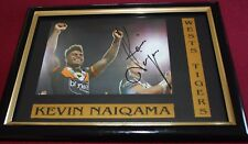 KEVIN NAIQAMA ~*~ Signed & Framed ~*~ WESTS TIGERS + COA