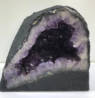 "12""Amethyst Cathedral Geode Crystal Quartz Church Natural Stone Specimen Brazil"