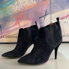 ISABEL MARANT SUEDE NAVY CLEANE ANKLE BOOTS - SIZE 7/40