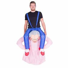 INFLATABLE GRANDMA FANCY DRESS COSTUME NANNY OLD LADY SUIT HEN STAG OUTFIT