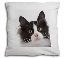 Black and White Cat Soft Velvet Feel Cushion Cover With Inner Pillow, AC-200-CPW