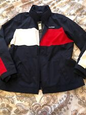 NWT Tommy Hilfiger Denim Built In Hoodie Light Colorblock...