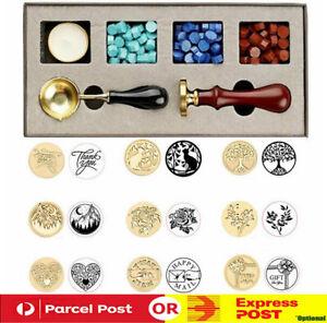 Detachable Stamps Spoon Set Wax Seal Box Kit Envelope Card Gift Sealing Tool DIY