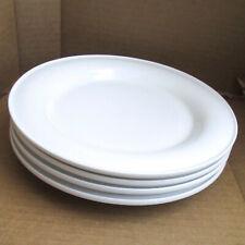"Lot of 4 DANSK GRAVES STUDIO 9"" Dinner Plates WHITE Pre-owned Minimalism Vintage"
