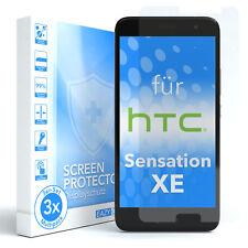 3x HTC Sensation XE Panzerfolie Displayschutz Schutzfolie Folie Klar