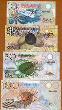 SPECIMEN SET, Seychelles, 10;25;50;100 rupees (1979) P-23s-24s-25s-27s UNC