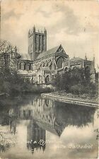 Wells Cathedral Reflection in Swan Pool Postcard
