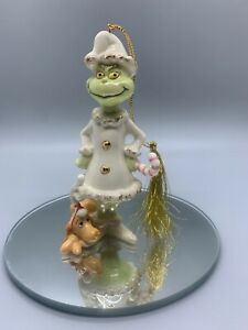 Lenox A Very Grinchy Christmas Ornament with Original Box and Packaging