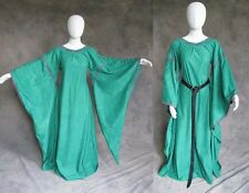 Green Medieval Bell Sleeve Dress Gown SCA Game of Thrones Cosplay LARP L XL