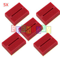 5pcs Red 170 Tie-points Mini Solderless Prototype Breadboard for Arduino