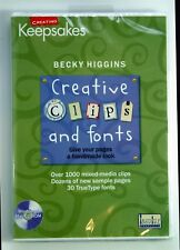 Creating Keepsakes Becky Higgins Creative Clips & Fonts NEW