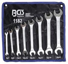 Bgs Double Clés mixtes 6 x 7-20 x 22 mm 8 Pièces 1182